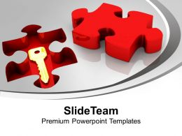 Solution Key Under Puzzle Problem PowerPoint Templates PPT Themes And Graphics 0113