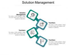 Solution Management Ppt Powerpoint Presentation Show Guidelines Cpb