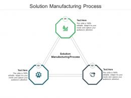 Solution Manufacturing Process Ppt Powerpoint Presentation File Deck Cpb