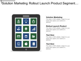 Solution Marketing Rollout Launch Product Segment Size Markets