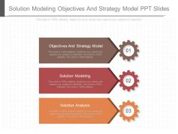 Solution Modeling Objectives And Strategy Model Ppt Slides