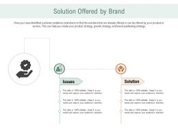 Solution Offered By Brand Ppt Powerpoint Presentation Gallery Good