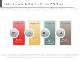 Solution Opportunity Short List Provide Ppt Slides