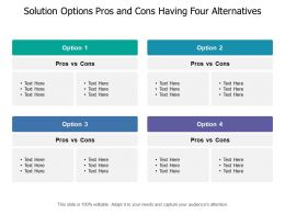Solution Options Pros And Cons Having Four Alternatives