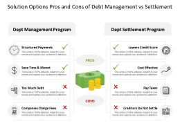 Solution Options Pros And Cons Of Debt Management Vs Settlement