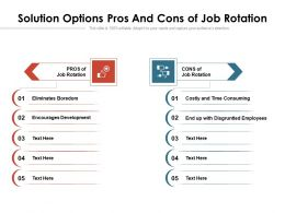 Solution Options Pros And Cons Of Job Rotation