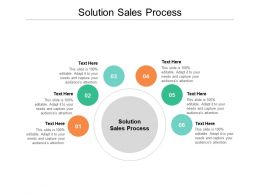 Solution Sales Process Ppt Powerpoint Presentation Model Icons Cpb
