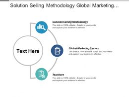 Solution Selling Methodology Global Marketing System Stages Change Management Cpb