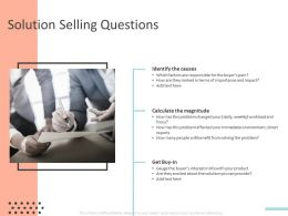 Solution Selling Questions Ppt Powerpoint Presentation Slides Example File