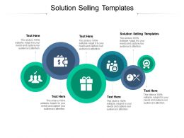 Solution Selling Templates Ppt Powerpoint Presentation File Visual Aids Cpb