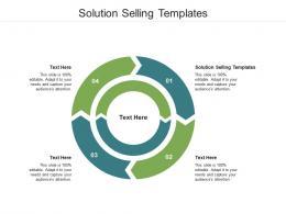 Solution Selling Templates Ppt Powerpoint Presentation Outline Slide Portrait Cpb