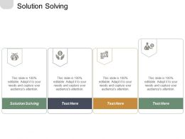 Solution Solving Ppt Powerpoint Presentation File Layout Ideas Cpb