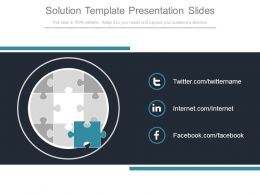 Solution Template Presentation Slides