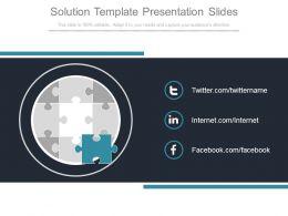 Solution Template Presentation Slides