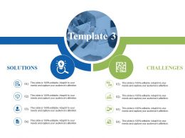 Solution Vs Challenges Ppt Visual Aids Infographic Template