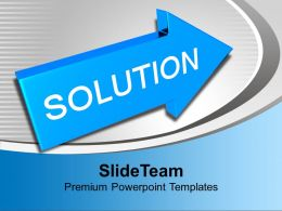 Solution Word On Arrow PowerPoint Templates PPT Backgrounds For Slides 0113