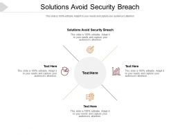 Solutions Avoid Security Breach Ppt Powerpoint Presentation Portfolio Designs Cpb