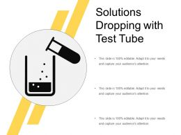 Solutions Dropping With Test Tube