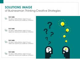 Solutions Image Of Businessman Thinking Creative Strategies