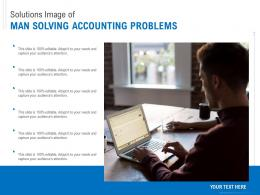 Solutions Image Of Man Solving Accounting Problems