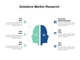 Solutions Market Research Ppt Powerpoint Presentation Infographic Template Guidelines Cpb