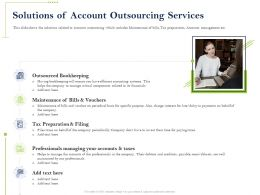 Solutions Of Account Outsourcing Services Professionals Ppt Powerpoint Summary