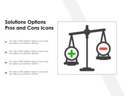 Solutions Options Pros And Cons Icons