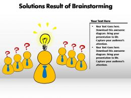solutions result of brainstorming powerpoint templates