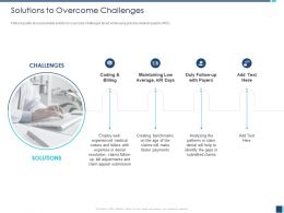 Solutions To Overcome Challenges Billers With Ppt Powerpoint Presentation Icon Slide Download