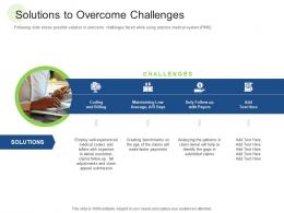 Solutions To Overcome Challenges RCM S W Bid Evaluation Ppt Ideas