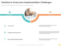 Solutions To Overcome Implementation Challenges Ppt Powerpoint Presentation Inspiration