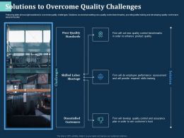 Solutions To Overcome Quality Challenges Skilled Labor Ppt Powerpoint Presentation Summary