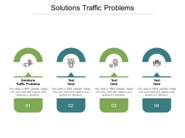 Solutions Traffic Problems Ppt Powerpoint Presentation Infographics Templates Cpb