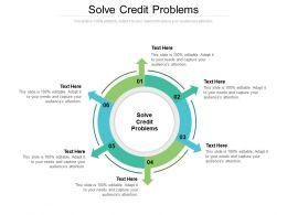Solve Credit Problems Ppt Powerpoint Presentation Ideas Infographic Template Cpb
