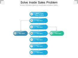 Solve Inside Sales Problem Ppt Powerpoint Presentation Model Topics Cpb