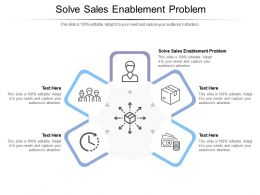 Solve Sales Enablement Problem Ppt Powerpoint Presentation Icon Layout Cpb