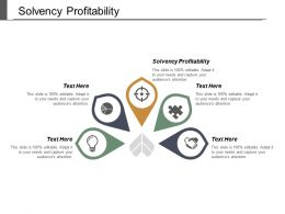 Solvency Profitability Ppt Powerpoint Presentation Infographic Template Slide Download Cpb