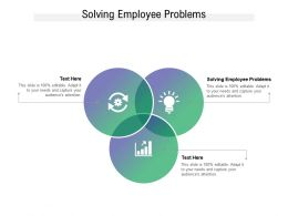 Solving Employee Problems Ppt Powerpoint Presentation Icon Example File Cpb