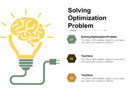 Solving Optimization Problem Ppt Powerpoint Presentation Show Layout Cpb