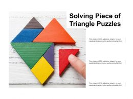 Solving Piece Of Triangle Puzzle