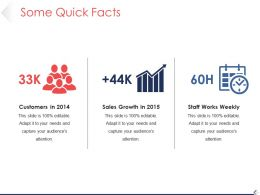 Some Quick Facts Ppt Infographics
