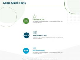 Some Quick Facts Sales Growth Customers Ppt Powerpoint Presentation Example Topics