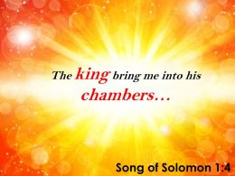 Song Of Solomon 1 4 The King Bring Me Into His Powerpoint Church Sermon