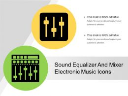 Sound Equalizer And Mixer Electronic Music Icons