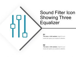 Sound Filter Icon Showing Three