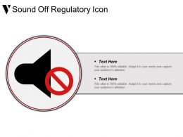 Sound Off Regulatory Icon Powerpoint Shapes