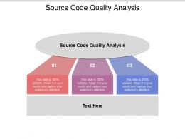 Source Code Quality Analysis Ppt Powerpoint Presentation Ideas Images Cpb