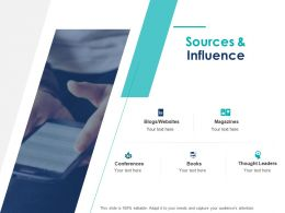 Sources And Influence Thought Leaders Ppt Powerpoint Presentation Professional Design Ideas