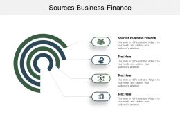 Sources Business Finance Ppt Powerpoint Presentation Pictures Mockup Cpb