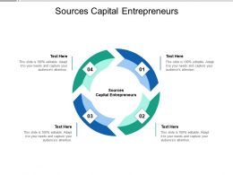 Sources Capital Entrepreneurs Ppt Powerpoint Presentation Gallery Model Cpb